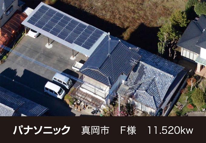 株式会社ソーラー・ブレス:太陽光発電パネル設置(パナソニック)真岡市F様