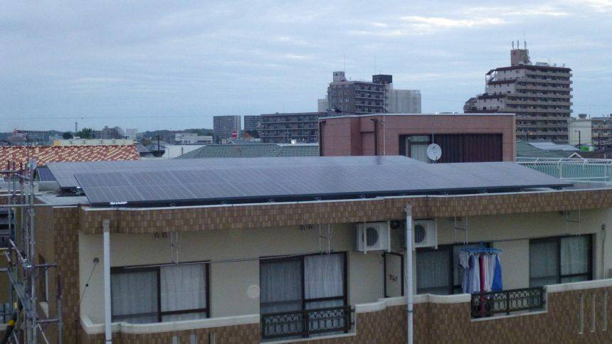 株式会社ソーラー・ブレス:太陽光発電パネル設置(シャープ)宇都宮市T様アパート35KW