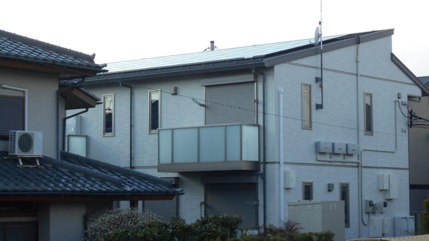 株式会社ソーラー・ブレス:太陽光発電パネル設置(シャープ)栃木市K様アパート14.3KW
