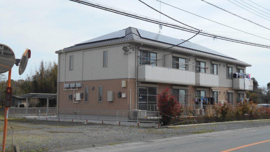 株式会社ソーラー・ブレス:太陽光発電パネル設置(シャープ) 下野市 E様アパート 14.79kw