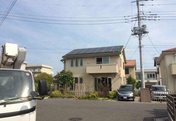 株式会社ソーラー・ブレス:太陽光発電パネル設置(シャープ) 茨城県ひたちなか市 S様 6.16kw